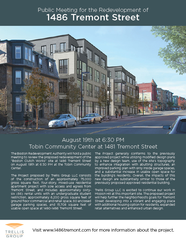1486 Tremont BRA Public Meeting Poster 20130806